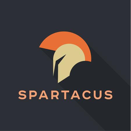 qualitative: Spartak Roman helmet   icon vector qualitative trend flat