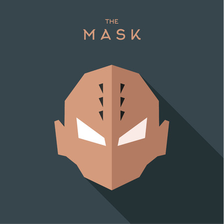 Abstract antihero, sinister person with thorns on a gray background shadow flat, graphic, unique character art