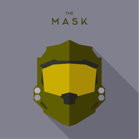 Mask to suit superhero vector illustration sign trend 일러스트