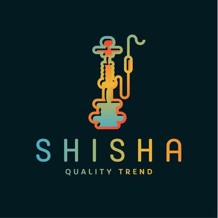 fumando: Hookah Shisha de tabaco para fumar y fumar mezclas para su marca de la empresa, el contorno gradientyny calidad plana