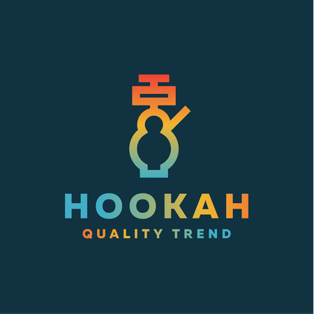 Shisha hookah for tobacco smoking and mixtures your company brand, quality gradientyny contour