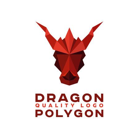 origami paper: Head Polygon dragon origami vector   Illustration