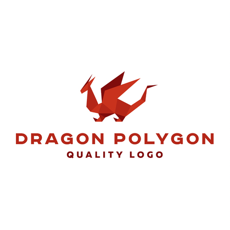 Polygon dragon origami vector   professional quality excellent art