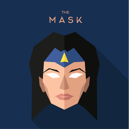 hero: Mask hero into flat style vector graphics Stock Photo