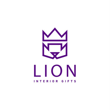 trend: Lion crown as trend   gifts flat style