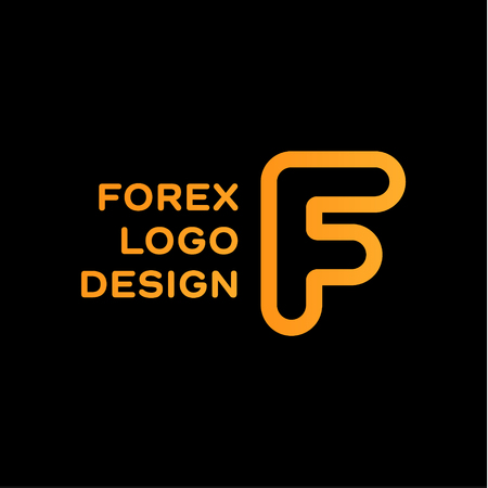 business trending: F letter forex trending quality business   vector sign