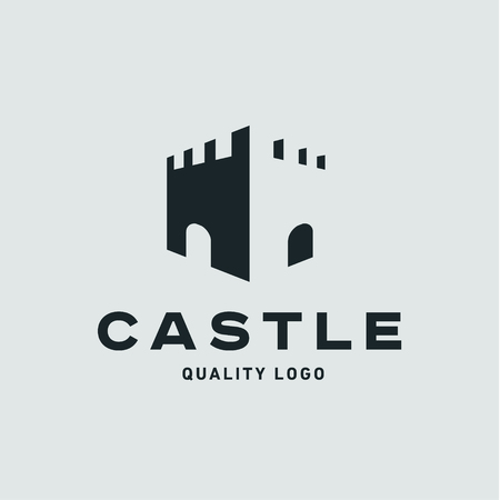 fortress: Abstract castle fortress trending flat quality   Illustration
