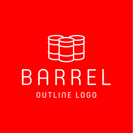business sign: Barrels oflet style  for the company of high-quality vector icon