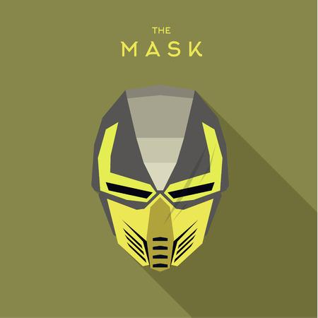 the villain: Mask villain into flat style vector graphics Illustration
