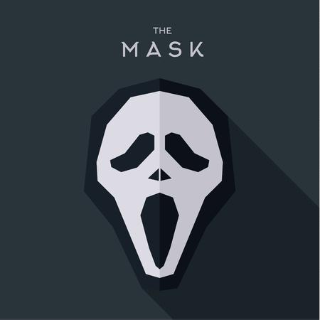 villain: Mask villain into flat style vector graphics art