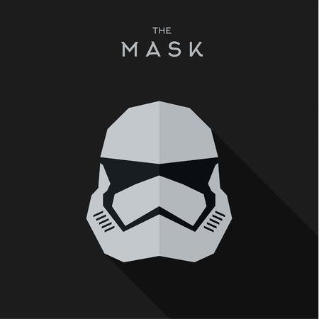 worthy: Mask villain into flat style vector graphics art. Illustration