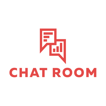 chat room: Icons minimalist Chat room Message range Wireless sign of the Trend Flat Art