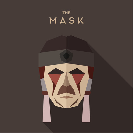 goodies: Mask goodies flat style abstraction vector graphics art illustration.