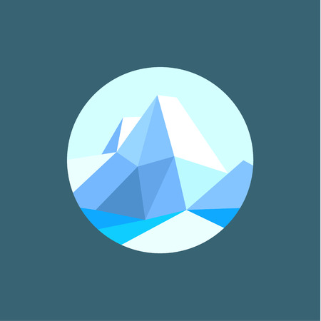 winter range: Mountain polygon in the low poly-style vector illustration art