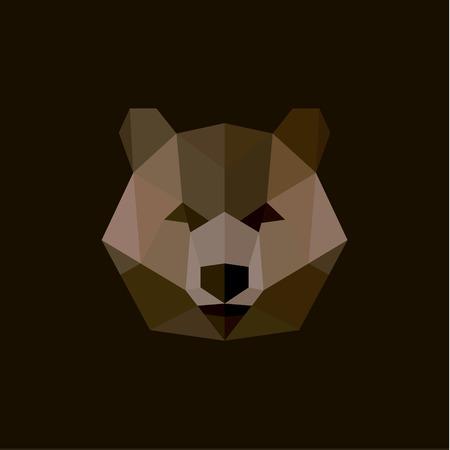 geometric background: Oso pardo en el estilo de ilustraci�n inferior de polietileno, de alta calidad de un dise�o animal salvaje del arte moderno.