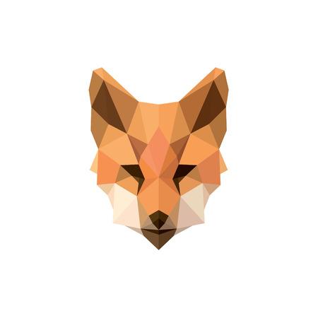 フォックス ポリゴン イラスト モダンなロゴ デザイン動物記号ブランド最高級スタイル アート  イラスト・ベクター素材
