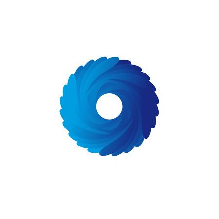blue spiral: Abstract blue spiral vector logo illustration art