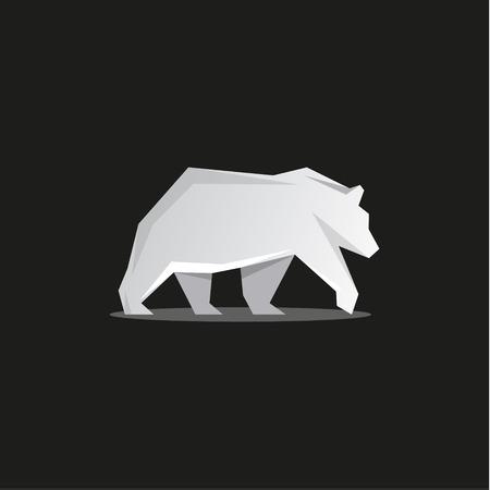 moved: Polar Bear logo the faces of modern design vector illustration animal predator art Illustration