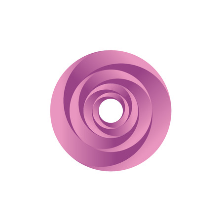 Pink Twisted Abstract spiral illustration of remembers the rose art 일러스트