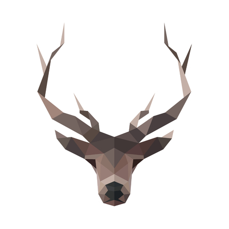 low prizes: Deer low poly vector illustration polygons horned art