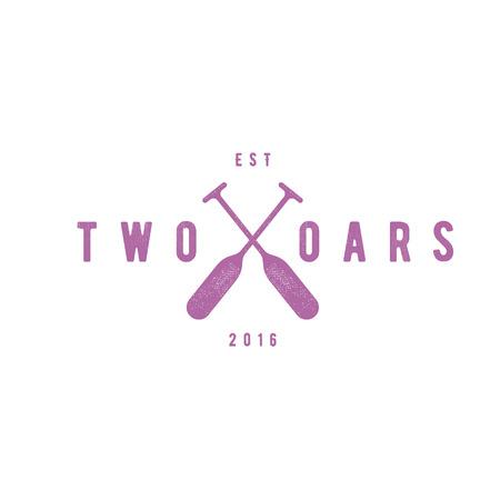 oars: Two Oars Sign Monogram icon in Minimalism Flat Illustration art Illustration