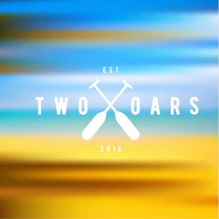 oars: Two Oars Sign Monogram  in Minimalism Flat Illustration art