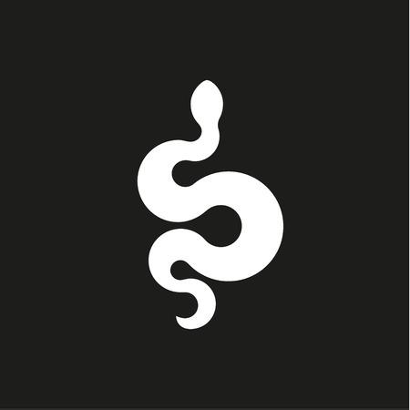 annular: Annular snake sign icons in flat design style illustration modern quality art