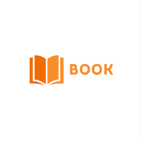 Book page icon  orange style flats