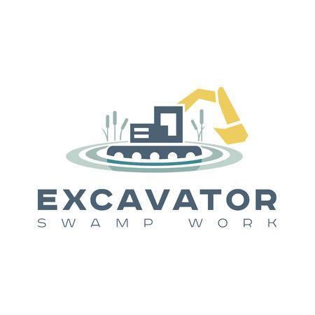 crawler tractor: amphibious excavator for wetland work Kamyshin style flat trends