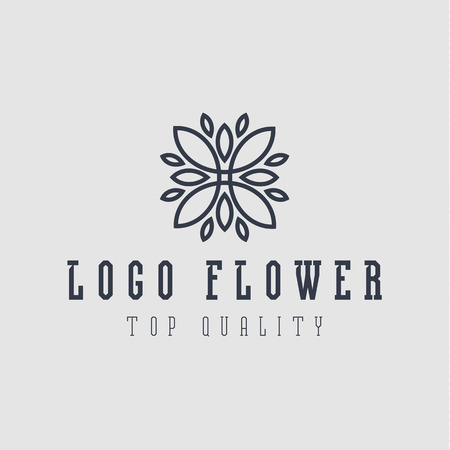 Logo abstract flower flat style s illustration top quality