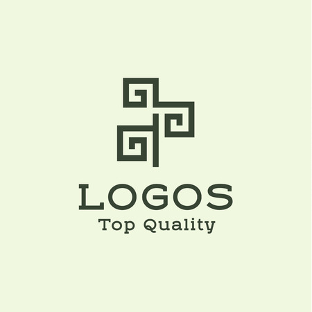Logo abstract tree flat style illustrations