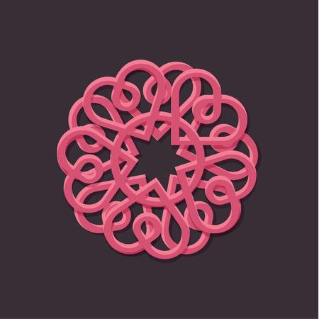 Hearts pattern illustration outline style vector art Illusztráció