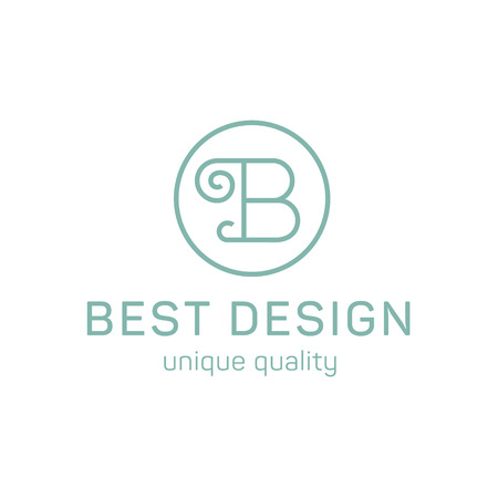 Design logo letter b in the flat steel quality and trend art Иллюстрация