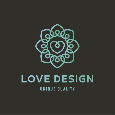 Sign of Love on wedding agency quality flat trend lustration