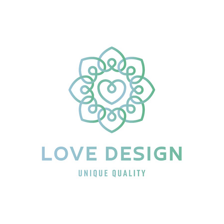 heart Love sign design template logo flat style quality illustration  linear trend vector