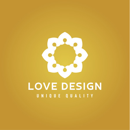 Love Design Abstract colors on a Gold background illustrations Фото со стока - 69807036
