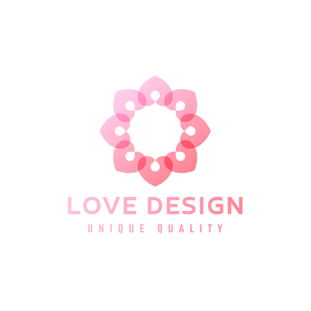 love design abstract flower in illustration