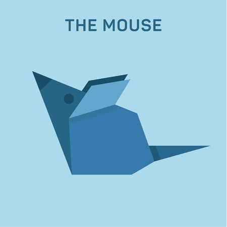 Mouse origami animal illustrations Flat Low, Poly