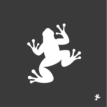 Frog illustration sign minimalism modern mark logo vector trendy