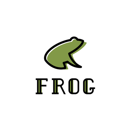 Frog illustration vector trend. Stock fotó - 74345934