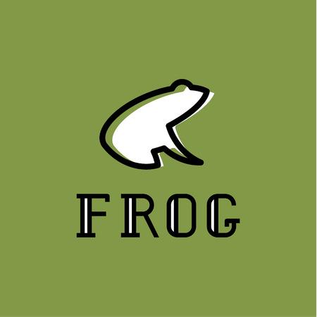 Frog logo illustration sign mark vector trend
