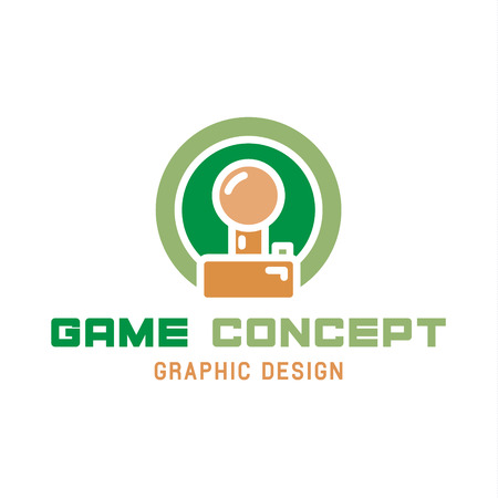 Game joystick illustration of the trend in flat style. 일러스트