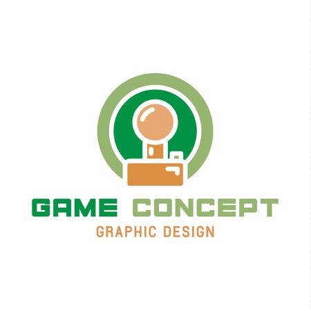Game joystick illustratie van de trend in platte stijl.