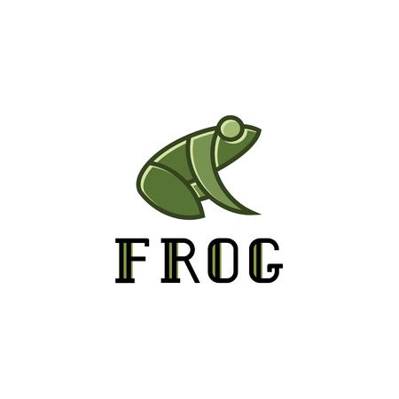 Frog illustration logos sign mark vector trend design.