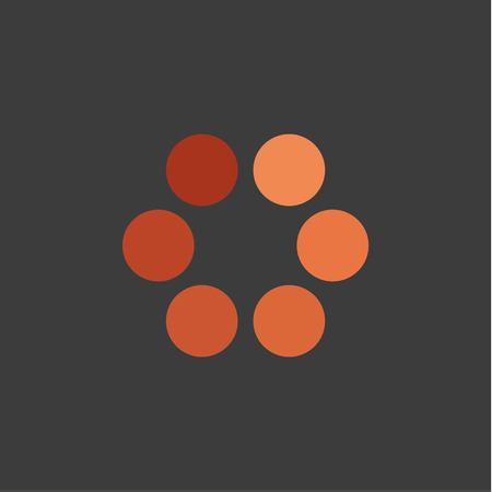Abstracts minimalism in the form of circles logos style icons download