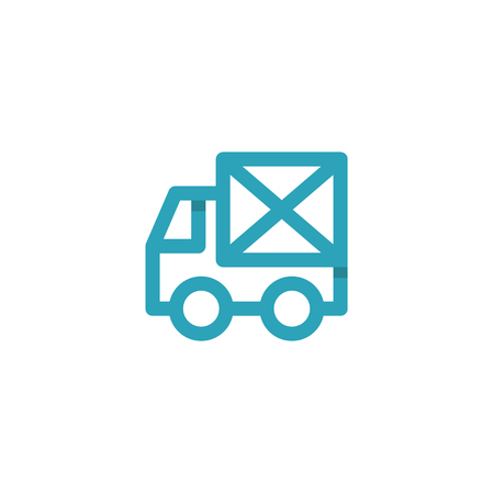 Car icon Mail envelope on the Back Logos vector style Single Line