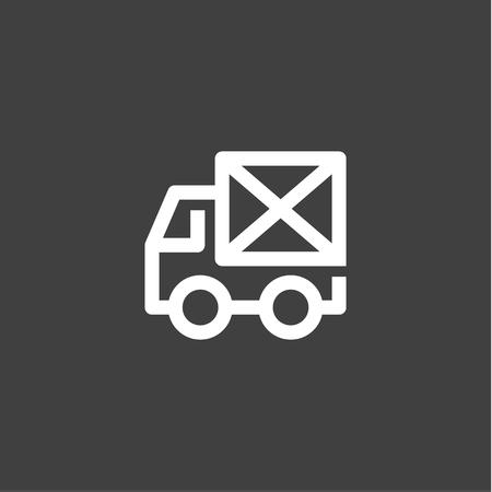 Enkele lijn auto-pictogram Mail envelop op de vector achterstijl