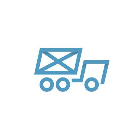 Car icon Mail envelope on the Back Logos vector style Single Line Фото со стока - 87529927