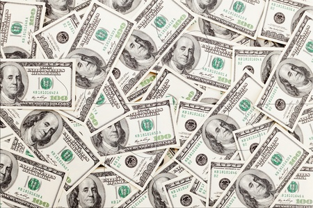 Money Pile $100 dollar bills, puzzle Stock Photo - 11493033