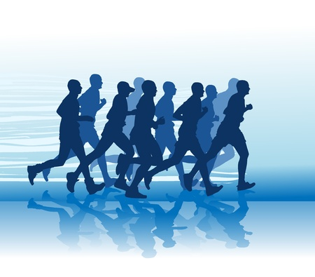 Silhouette of runner Banque d'images